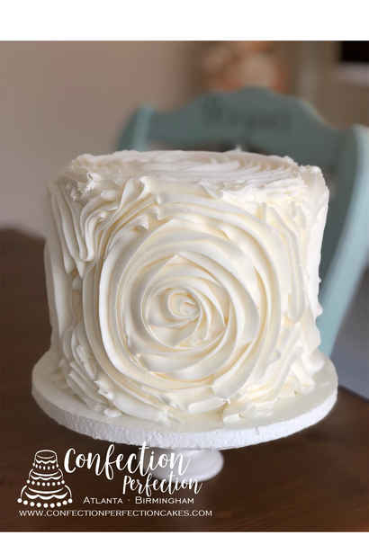 Buttercream Large Rose Ruffle  2GO-119