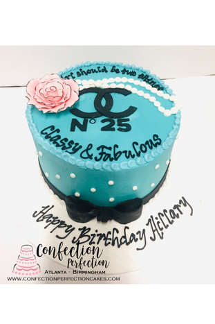 Chanel Cake with Pearls & Flower FB-166