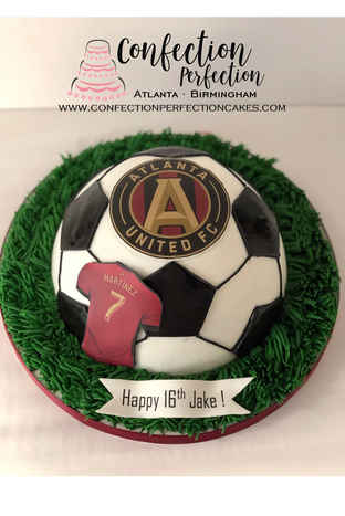 2D Soccer, Baseball, Basketball or Tennis Ball Cake (Atlanta United, Chelsea) CBB-154