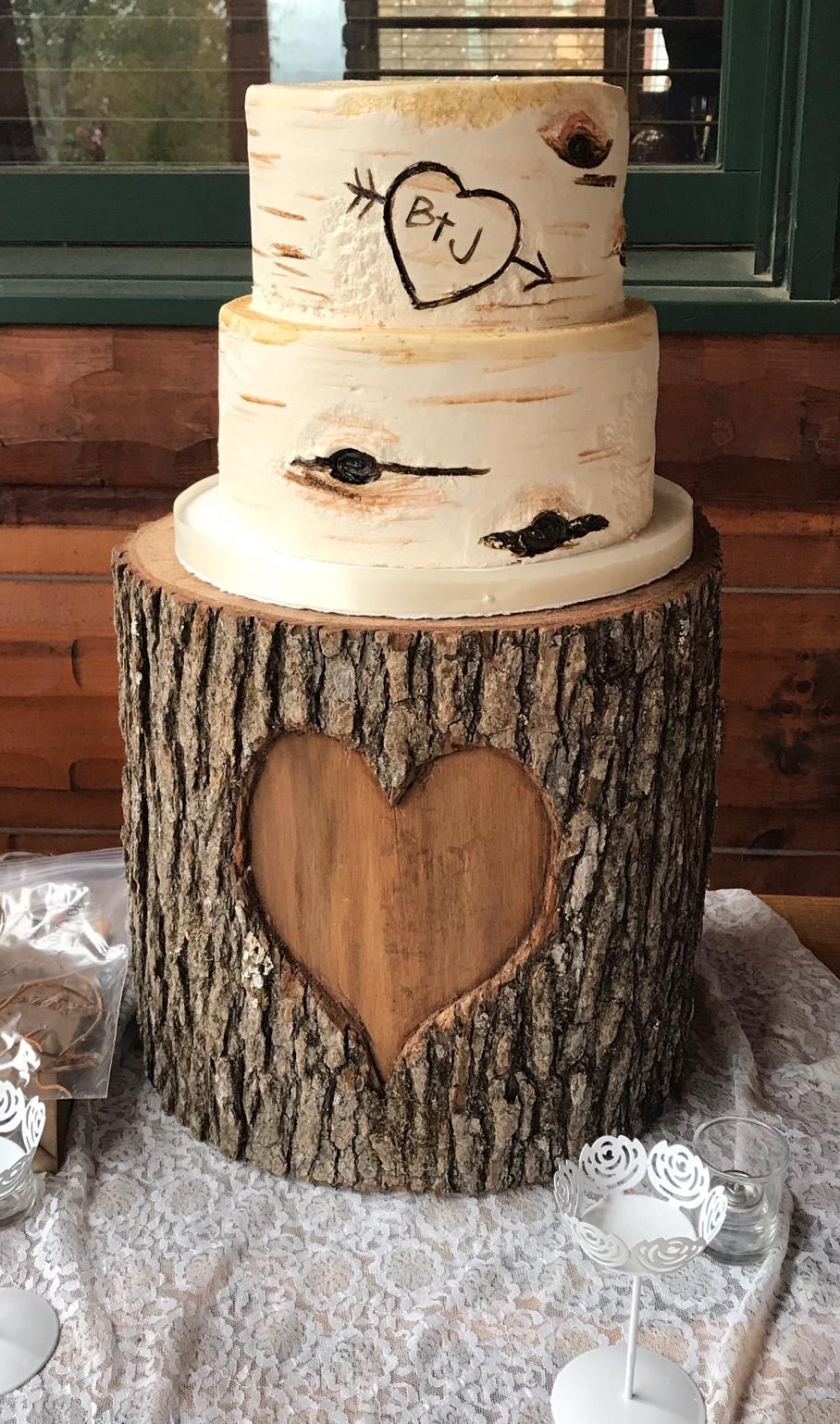 Custom Cakes Wedding Cakes Atlanta Wedding Gallery - Tree Trunk Wedding Cake