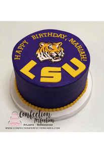 LSU Mascot Round Cake MB-175