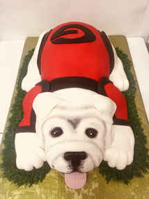 Sculpted UGA Dog Cake