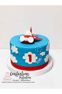 Airplane First Birthday Cake  BC-129