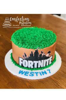 Fortnite Round Edible Image Cake CBB-170