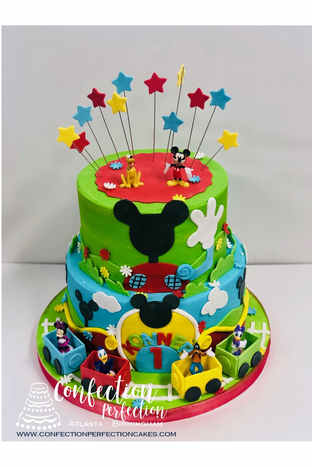 Mickey Mouse 1st Birthday Cake  BC-134