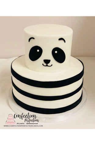 Panda Face with Stripes 2 Tier Cake CBG-207