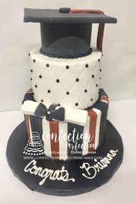 Graduation Cake with Cap & Tassle GR-116