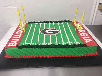 Football Field Sheet Cake MB-132