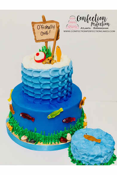 O-Fishally One First Birthday Cake BC-14