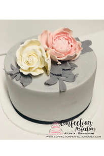 Buttercream Cake with Gumpaste Floral FB-170