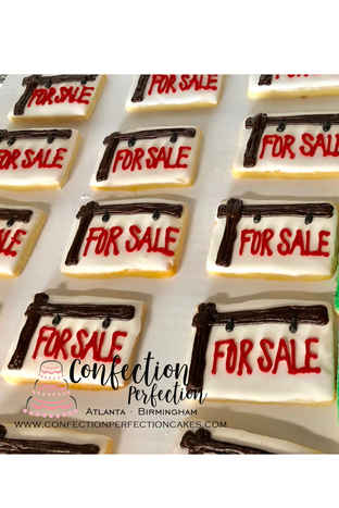 For Sale Sign Cookies HOL-116
