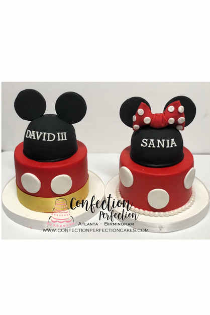 Mickey or Minnie Mouse Ears Cake BC-132