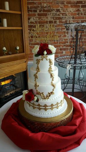 Beauty And The Beast Themed Wedding Cake Wc055