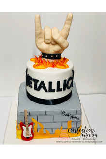 Rock & Roll Metallica Cake