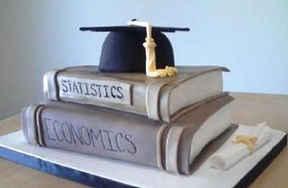 Graduation Cap and Books Cake GR-111
