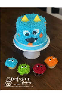 Silly Fuzzy Monster Cake BC-135