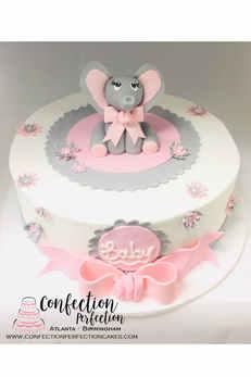 Elephant Theme Baby Cake BB-126