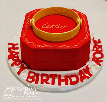 Cartier Ring and Box Cake FB-190