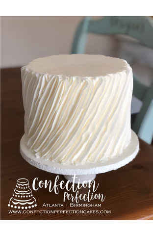 Angled Fluffy Rigid Textured Buttercream Cake  2GO-116