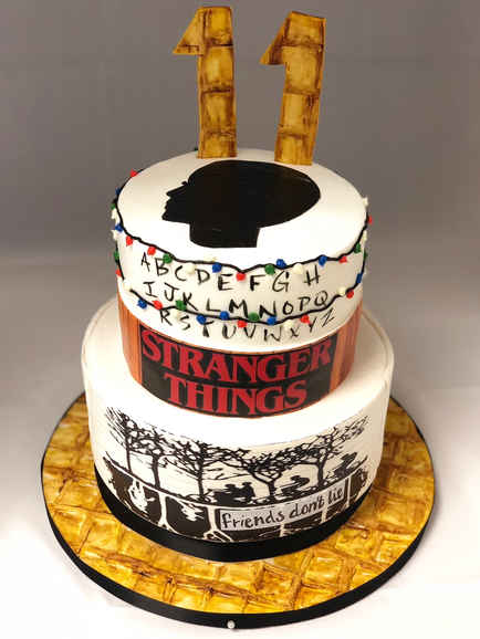 Stranger Things Theme 2-Tier Cake CBG-143