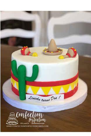 Mexican Fiesta Round Cake CBB-162