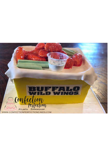 Buffalo Wild Wings Themed Cake