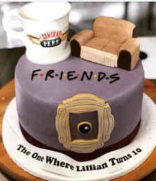 """Friends"" Theme Cake CBG-149"