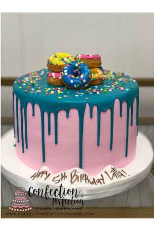 Mini Donut Chocolate Drip Cake CBG-171