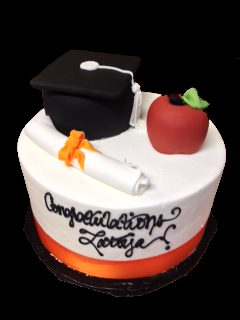 Graduation Cake with Cap and Diploma GR-102