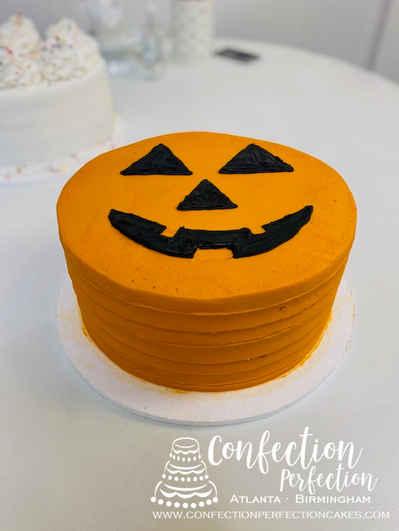 Textured Pumpkin Round Cake HOL-148