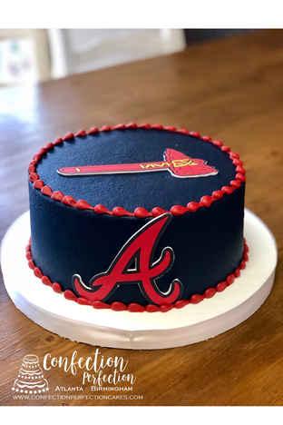 Atlanta Braves Logo Cake CBB-165