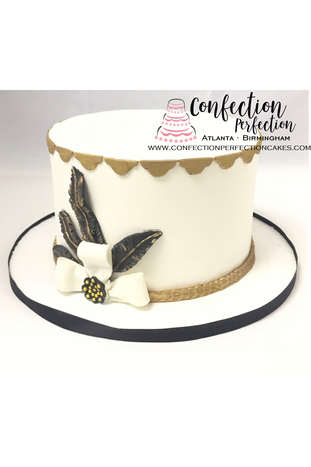 Harlem Nights Cake with Black Feathers FB-176