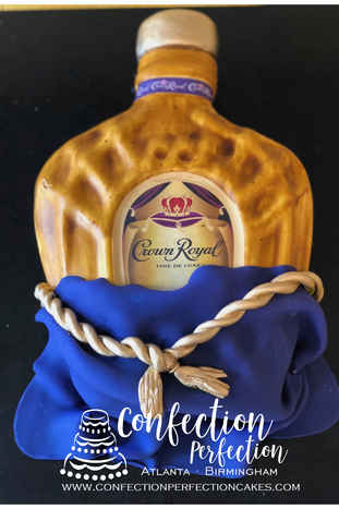 2D Crown Royal Bottle Cake MB-144