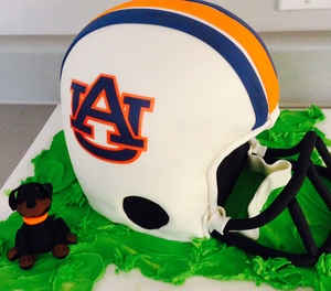 Auburn Univeristy Football helmet Cake