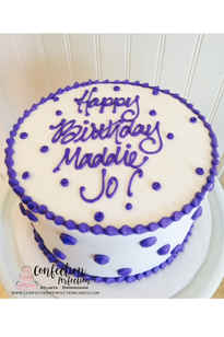 Buttercream Polka Dot Cake  2GO-107