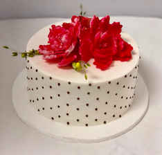 Tiny Dot and Floral Cake FB-135