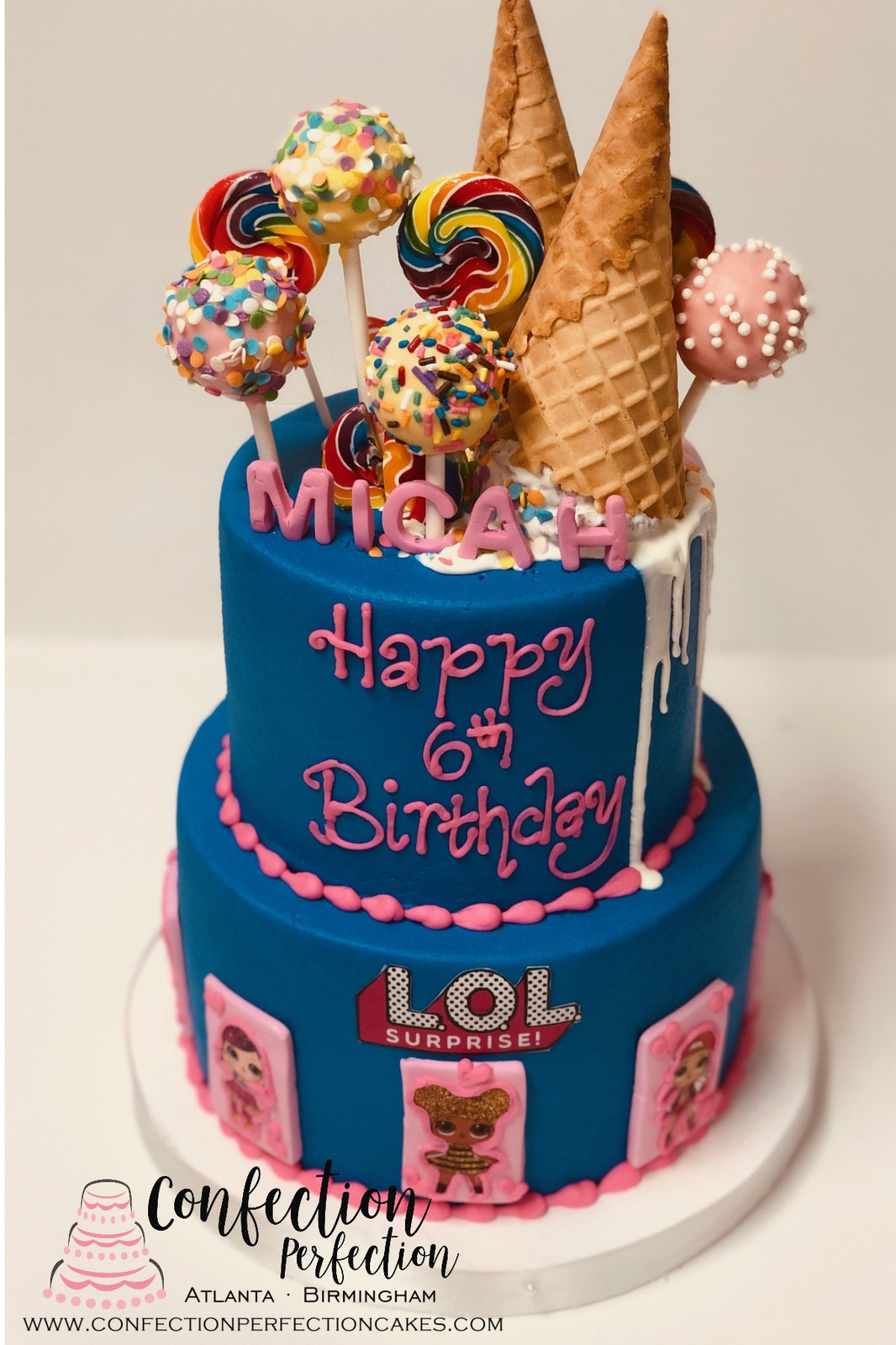2 Tier LOL Doll Ice Cream Surprise Cake CBG 167