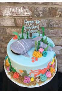 Ocean Themed Beluga Whale Cake CBG-134