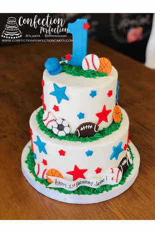 All Sports First Birthday Cake BC-144