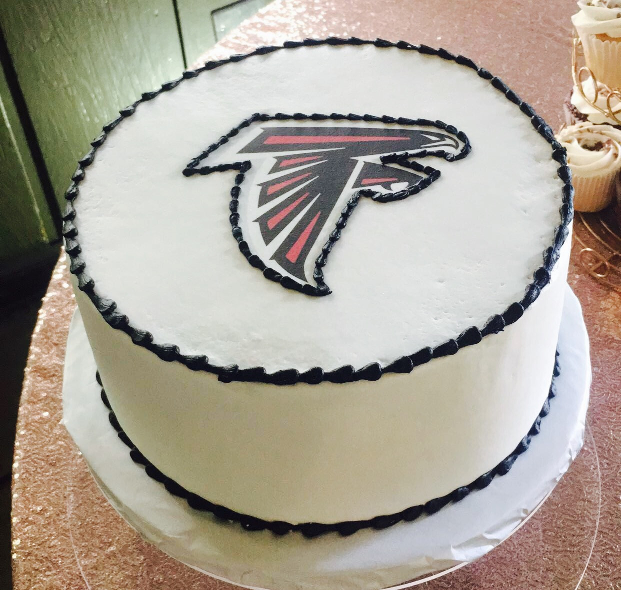 Atlanta Falcons round cake Custom Cakes Wedding Cakes Atlanta