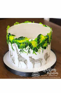 Triple Layer Safari Theme Cake BC-140