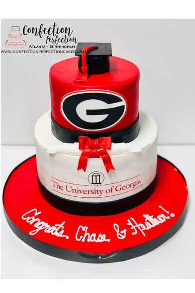 2 Tier Graduation Cake GR-120