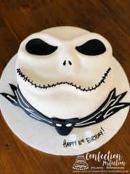 Jack Skellington Nightmare Before Christmas Sculpted Face Cake HOL-146