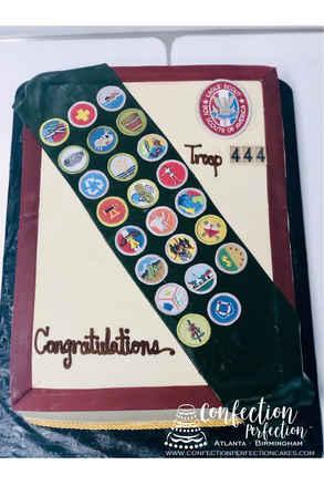 Eagle Scout (Boy Scout) Badge & Sash Cake SO-005