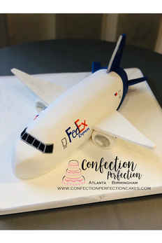 Fed Ex Corporate Airplane Cake CC-114