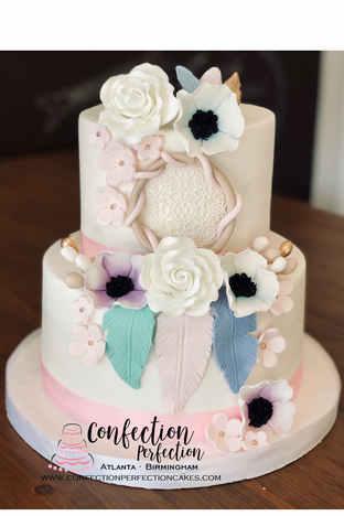 2 Tier Dream Catcher Boho Themed Cake CBG-191