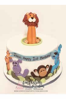 Safari Jungle Theme Birthday Cake BC-116