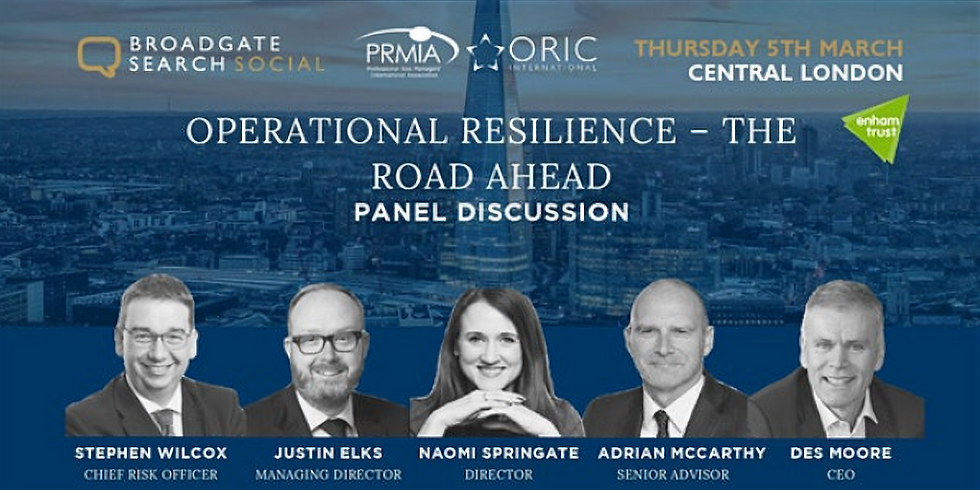 Operational Resilience - The Road Ahead