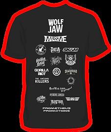 RockWich 2019 t-shirt back