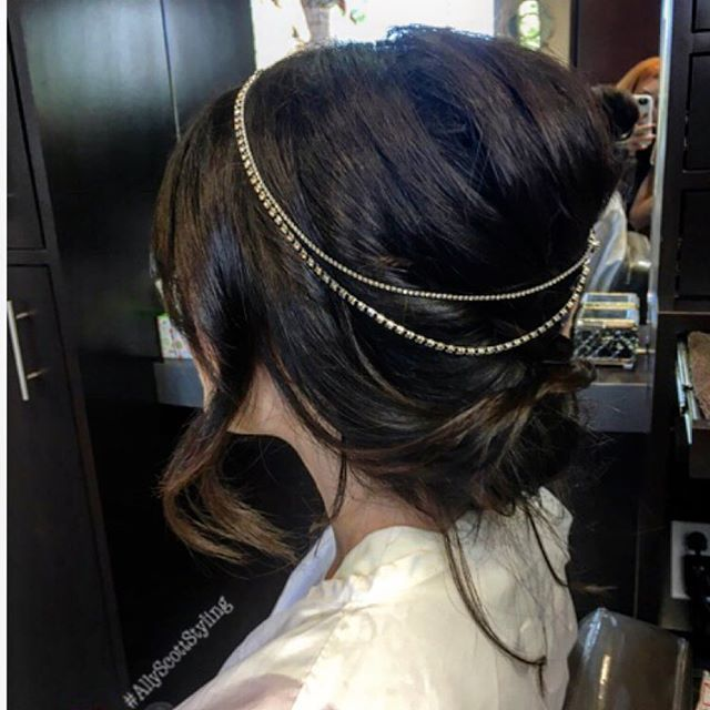 Bridal gypsy🌙 #updo #hair jewelry #brid